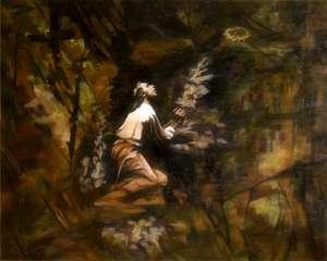 Obraz - 'Chrystus w Getsemani' - olej / płótno