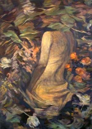 Obraz olejny - Uwikłana - Teresa Ulma