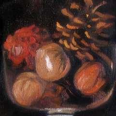 Mała martwa natura - obraz olejny - detal 1
