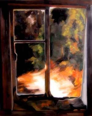 Pejzaż okienny I - obraz olejny