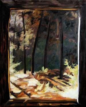Pejzaż okienny II - obraz olejny