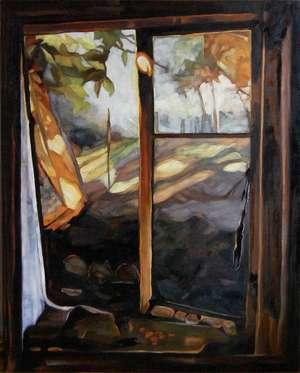 Pejzaż okienny III - obraz olejny