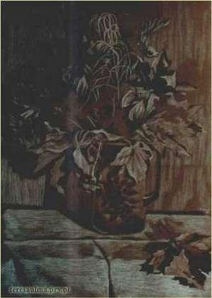 Brązowa martwa natura - rysunek