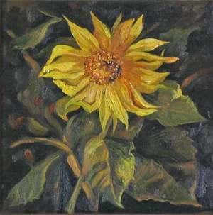 Słonecznik - mała forma malarska
