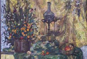 Obraz - Martwa natura z lampą -Teresa Ulma